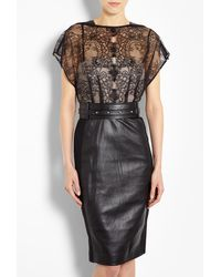 Catherine Deane Mandy Lace and Leather Dress with Studded Belt - Lyst