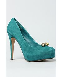 DV by Dolce Vita The Bunny Shoe in Teal Suede - Lyst