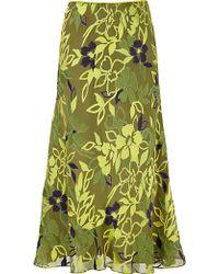 Jacques Vert - Jacques Vert Devore Skirt Green - Lyst