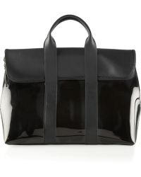 3.1 Phillip Lim 31 Hour Leather and Pvc Tote - Lyst