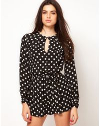 ASOS Collection Asos Playsuit in Spot Print - Lyst