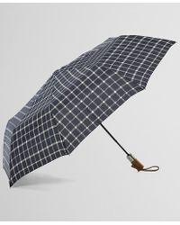 Brooks Brothers - Tattersall Folding Umbrella - Lyst