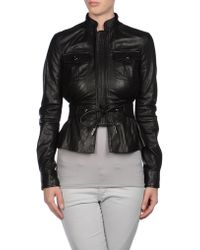 DSquared² Leather Outerwear - Lyst