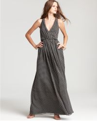 Halston Heritage Polka Dot Chiffon Dress - Lyst