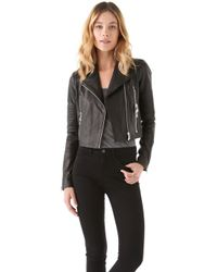 J Brand Leather Biker Jacket - Lyst