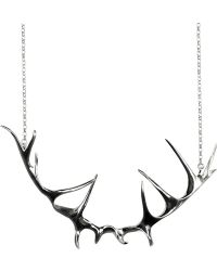 Justine Brooks Deer Antler Silver Necklace - Lyst