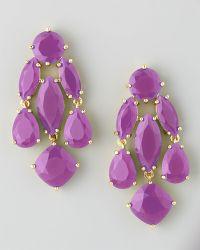 Kate Spade Statement Crystal Earrings  - Lyst