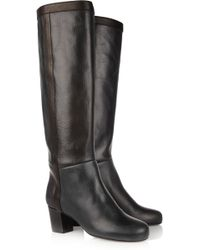 Lanvin Leather Knee Boots - Lyst