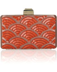 Lanvin Sea Breeze Embellished Satincovered Metal Clutch - Lyst