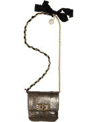 Lanvin Happy Mini Pop Python Bag - Lyst