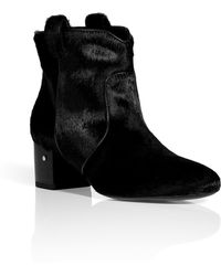 Laurence Dacade Black Hair Calf Ankle Boots - Lyst