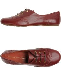 Marc By Marc Jacobs Laced Shoes red - Lyst