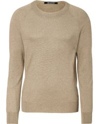Neil Barrett Walnut Double Crew Neck Sweater - Lyst