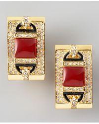 Rachel Zoe - Rectangular Clip Earrings  - Lyst