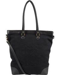 Roberto Cavalli Medium Fabric Bag - Lyst
