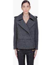 By Malene Birger Charcoal Wool Febiola Jacket - Lyst