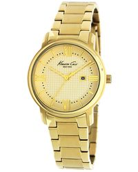 Kenneth Cole Womens Gold Ion Plated Stainless Steel Bracelet 35mm - Lyst