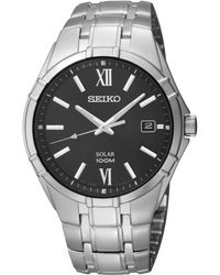 Seiko Men'S Solar Stainless Steel Bracelet 38Mm Sne215 - Lyst