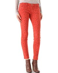 Current/Elliott The Ankle Skinny Corduroy Pants - Lyst