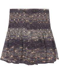 Isabel Marant Printed Silk Georgette Mini Skirt - Lyst