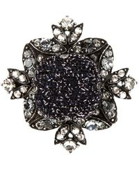 Lanvin Square Ring black - Lyst