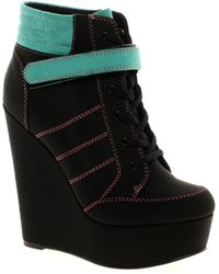 Asos Asos Amplify Wedge Ankle Boots - Lyst