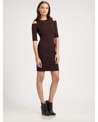 Kimberly Ovitz Cut-Out Shoulder Ponte Dress - Lyst