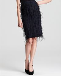 Sachin & Babi Skirt Lacey with Ostrich Feathers - Lyst