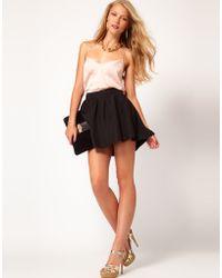 ASOS Collection Asos Mini Skirt with Hi Low Hem - Lyst