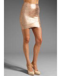 BCBGMAXAZRIA Mini Skirt - Lyst