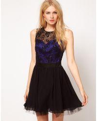 Little Mistress Lace Bustier Prom Dress - Lyst