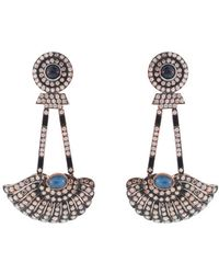 Silvia Furmanovich Summer Diamond and Sapphire Wing Earrings - Lyst