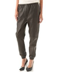 3.1 Phillip Lim Leather Sweatpants - Lyst