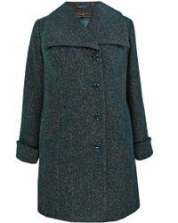 Ann Harvey - Green Large Collar Coat - Lyst