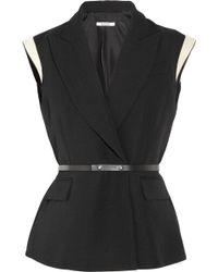 Bally | Sleeveless Wool-piqué Blazer | Lyst
