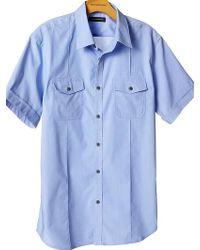 Banana Republic Shortsleeve Utility Shirt - Lyst