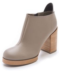 Cheap Monday - Layer Chunky Heel Booties - Lyst
