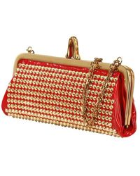 Christian Louboutin Miss Loubi Patent Spikes Clutch - Lyst