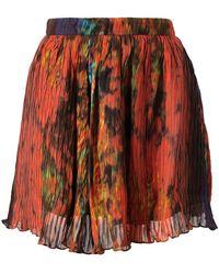 Felder Felder - Printed Silk Skater Skirt - Lyst