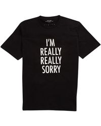 French connection Im Really Really Sorry Graphic Tshirt - Lyst
