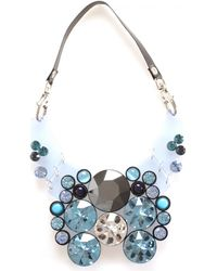 Holly Fulton - Articulated Crystal Necklace Turquoise - Lyst