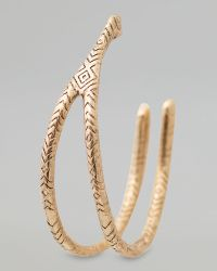 House of Harlow 1960 - Engraved Wishbone Hoop Earrings - Lyst