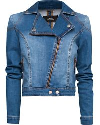 Mango Mango Denim Washed Jacket Denim - Lyst