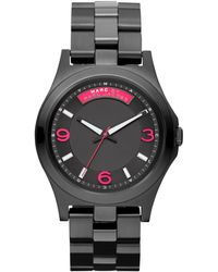 Marc By Marc Jacobs Womens Black Ion Plated Stainless Steel Bracelet 40mm - Lyst