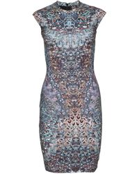 McQ by Alexander McQueen Digitally Printed Dress multicolor - Lyst