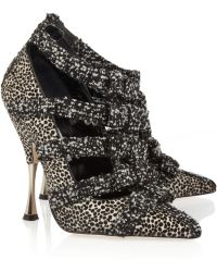 Oscar de la Renta Elisa Calf Hair and Tweed Pumps - Lyst