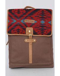 Pendleton The Rucksack Bag in Red Mini Diamond Desert red - Lyst