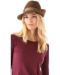 Rag & Bone Press Hat brown - Lyst