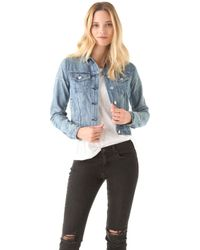 Rag & Bone/JEAN Denim Jacket - Perfect Wash - Lyst