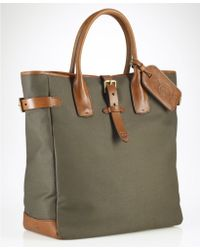 Ralph Lauren Canvas Tote - Lyst